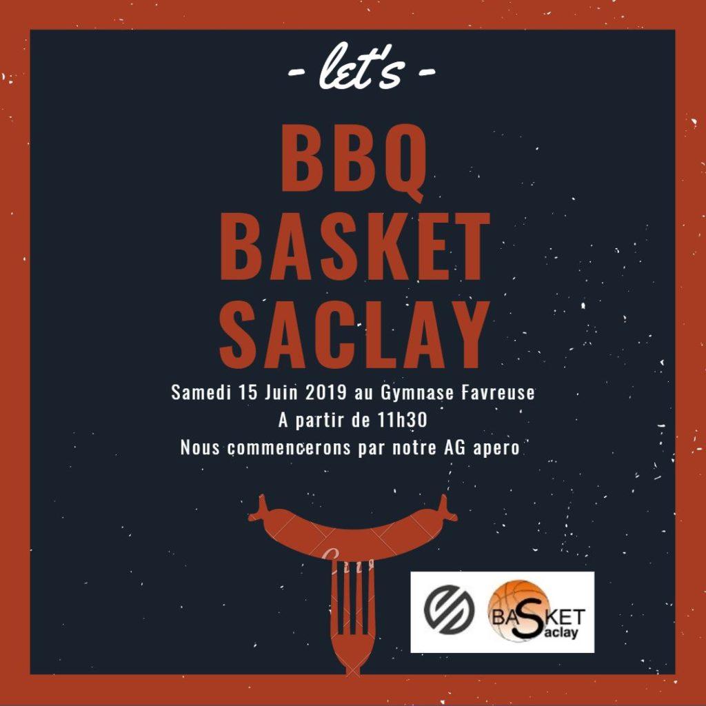 BBQ BASKET SACLAY  – 15 JUIN 2019 / 11h30
